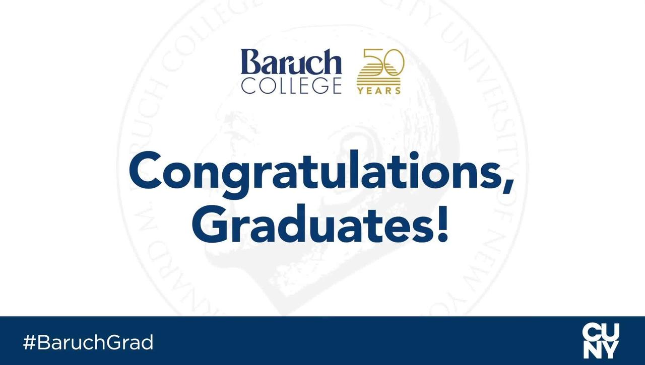 Baruch College 54th commencement exercises (2019)