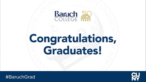 Thumbnail for entry Baruch College 54th commencement exercises (2019)
