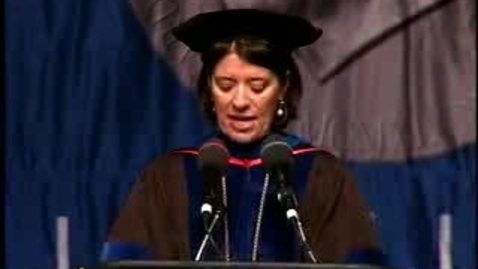 Thumbnail for entry Baruch College Commencement (2007): Presentation of Undergraduate Class Gift