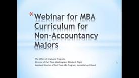 Webinar for MBA curriculum for non-accountancy majors