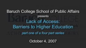 Thumbnail for entry Lack of Access: Barriers to Higher Education (Part 1)