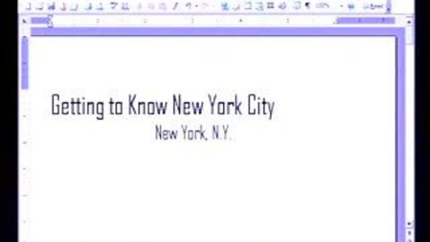 Thumbnail for entry Introduction to Microsoft Word 2003: Inserting Pictures