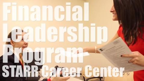 Thumbnail for entry Financial Leadership Program: STARR Career Center