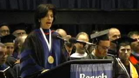 Thumbnail for entry Baruch College Commencement (2004): Valedictorian Eric Green