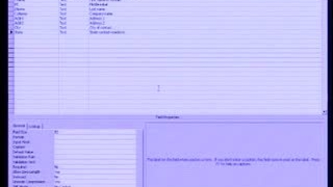 Thumbnail for entry Introduction to Microsoft Access 2003: Working with Tables, Part 2