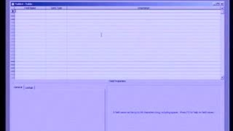 Thumbnail for entry Introduction to Microsoft Access 2003: Working with Tables, Part 1