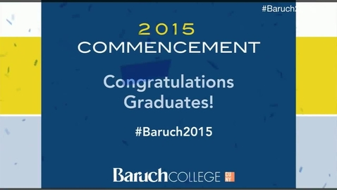 Baruch College 50th commencement excercises (2015).