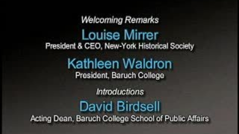 Thumbnail for entry Lessons from the NYC Fiscal Crisis: 30 Years Later
