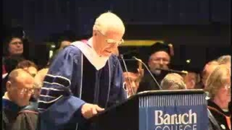 Thumbnail for entry Baruch College Commencement (2004): Kathleen Pesile