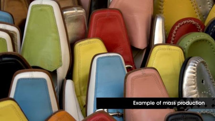 image of shoes, part of video