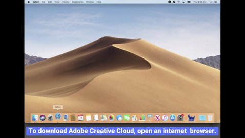Thumbnail for entry Adobe Creative Cloud: Installing on personal machine