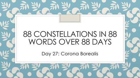 Thumbnail for entry corona borealis