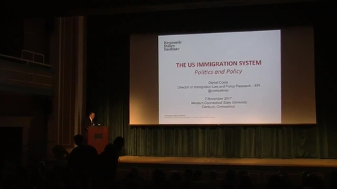 Thumbnail for entry The Macricostas Family Arts & Sciences Endowed Lecture presents Daniel Costa: U.S. Labor Migration: Politics and Policy