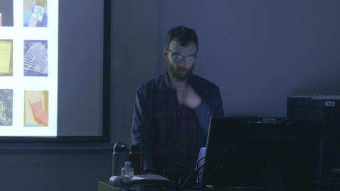 Thumbnail for entry Visiting Artist Lecture - Matt Bolinger Part 1