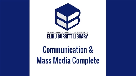 Thumbnail for entry Communication & Mass Media Complete