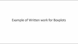 Thumbnail for entry Example Written Work Boxplots