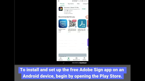 Thumbnail for entry Adobe Sign: Install - Android