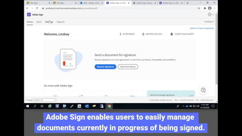 Thumbnail for entry Adobe Sign: Managing Documents