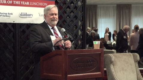 Thumbnail for entry 2018 Macricostas Entrepreneur of the Year- Jordan Young, president of Danbury-based Fairfield Processing Corp