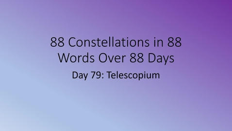 Thumbnail for entry Telescopium