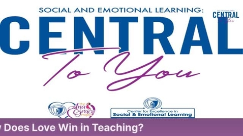 Thumbnail for entry Community Guests:  Shakira Perez, Bob Buckley:  How does Love Win in Teaching? 11/2/2000