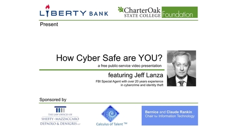 Safe from Cyber Crime 1of5: Prevent Identity Theft