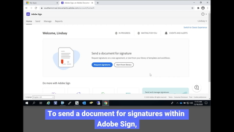Thumbnail for entry Adobe Sign: Requesting Signatures