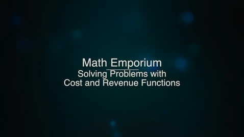 Solving Problems with Cost and Revenue Functions