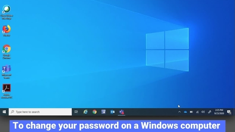 Thumbnail for entry Changing Password on Windows Off-Campus