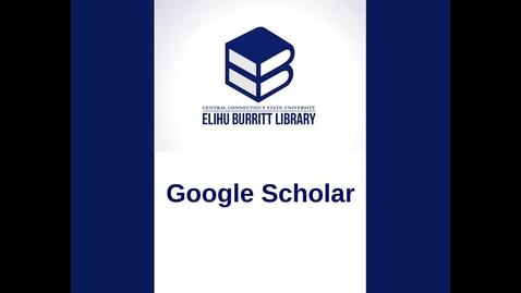 Thumbnail for entry Google Scholar Tutorial