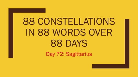 Thumbnail for entry Sagittarius