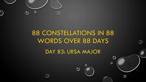 Thumbnail for entry Ursa Major