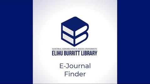 Thumbnail for entry E-Journal Finder