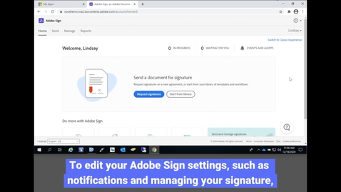 Thumbnail for entry Adobe Sign: Managing Settings