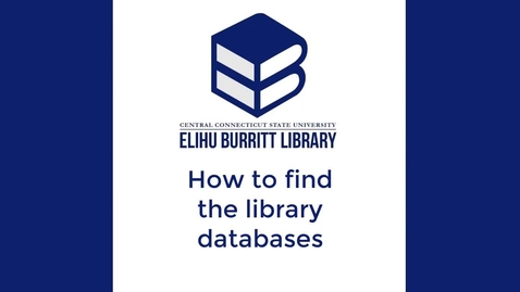 Thumbnail for entry How to find the library databases