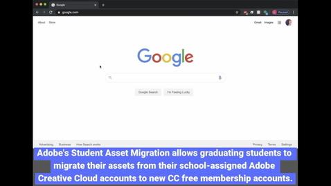 Thumbnail for entry Adobe Graduation: Student Asset Migration