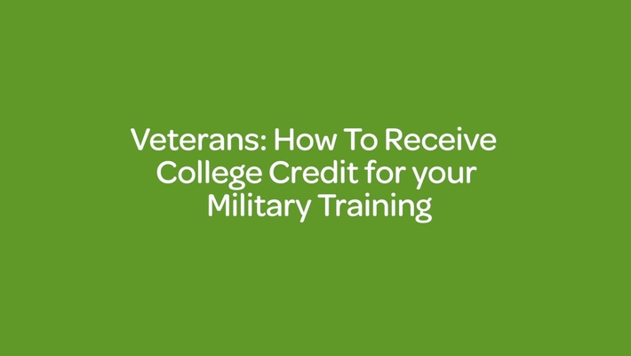 Veterans _ How To Receive College Credit for your Military Training