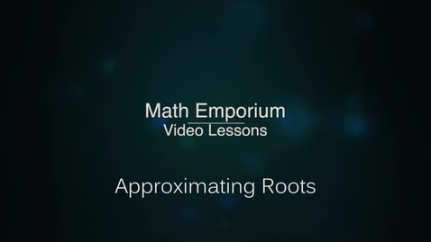 Thumbnail for entry Approximating Square Roots