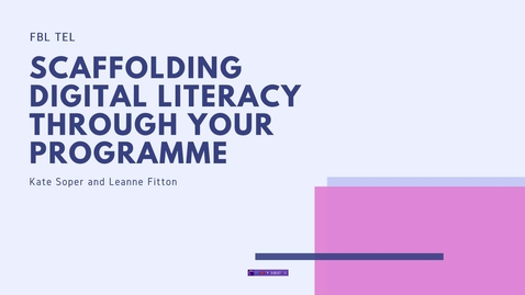 Thumbnail for entry PEAR Review: Scaffolding digital literacy across your programme