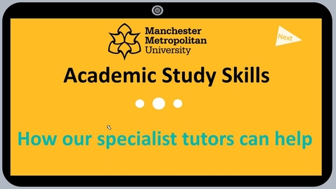 Thumbnail for entry Academic and Study Skills Introduction