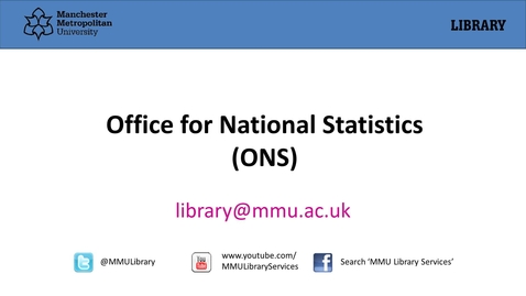 Thumbnail for entry Office for National Statistics (ONS)