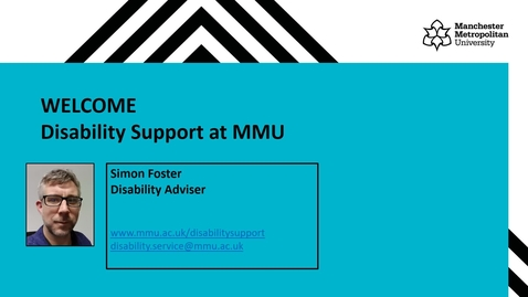 Thumbnail for entry Disability Service - Webinar