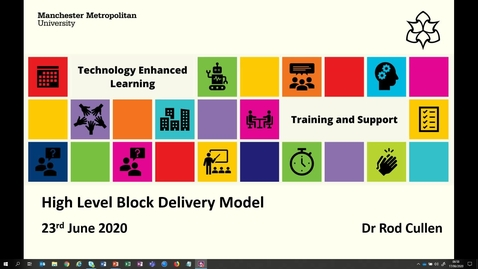 Thumbnail for entry Online Block Delivery Model and Learning Spaces Framework