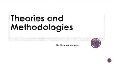 Thumbnail for entry Theories and Methodologies: Post-qualitative Research Methodology