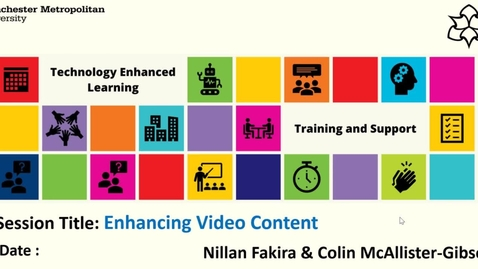 Thumbnail for entry Enhancing video content