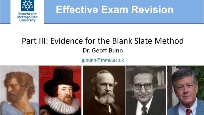 Effective Exam Revision, Part III