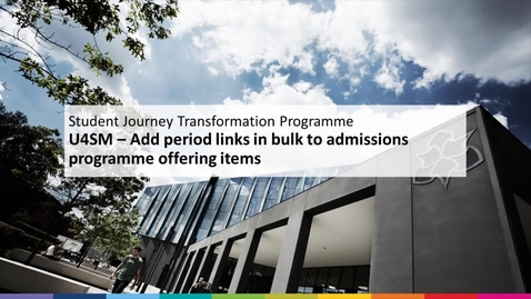 Thumbnail for entry Add period links to Admissions Programme Offering Item (APOI)
