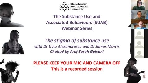 Thumbnail for entry SUAB Webinar: The stigma of substance use