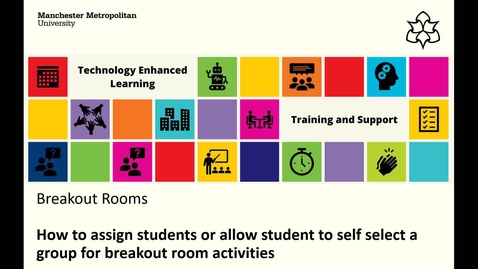 Thumbnail for entry MS Teams: How to assign or self select groups for breakout room activities