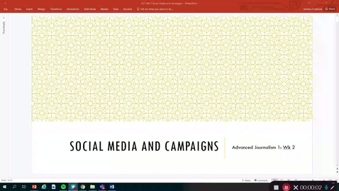 Thumbnail for entry Advanced Journalism 1: Social media